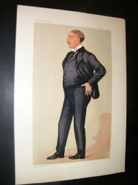 Vanity Fair Print 1891 Cecil Rhodes, Spy Cartoon
